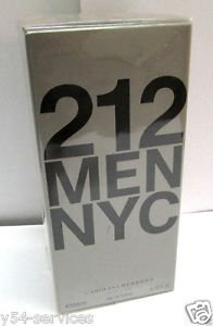 Carolina Herrera 212 Men 200ml 6.7oz Eau de Toilette EDT New Box 100% Original