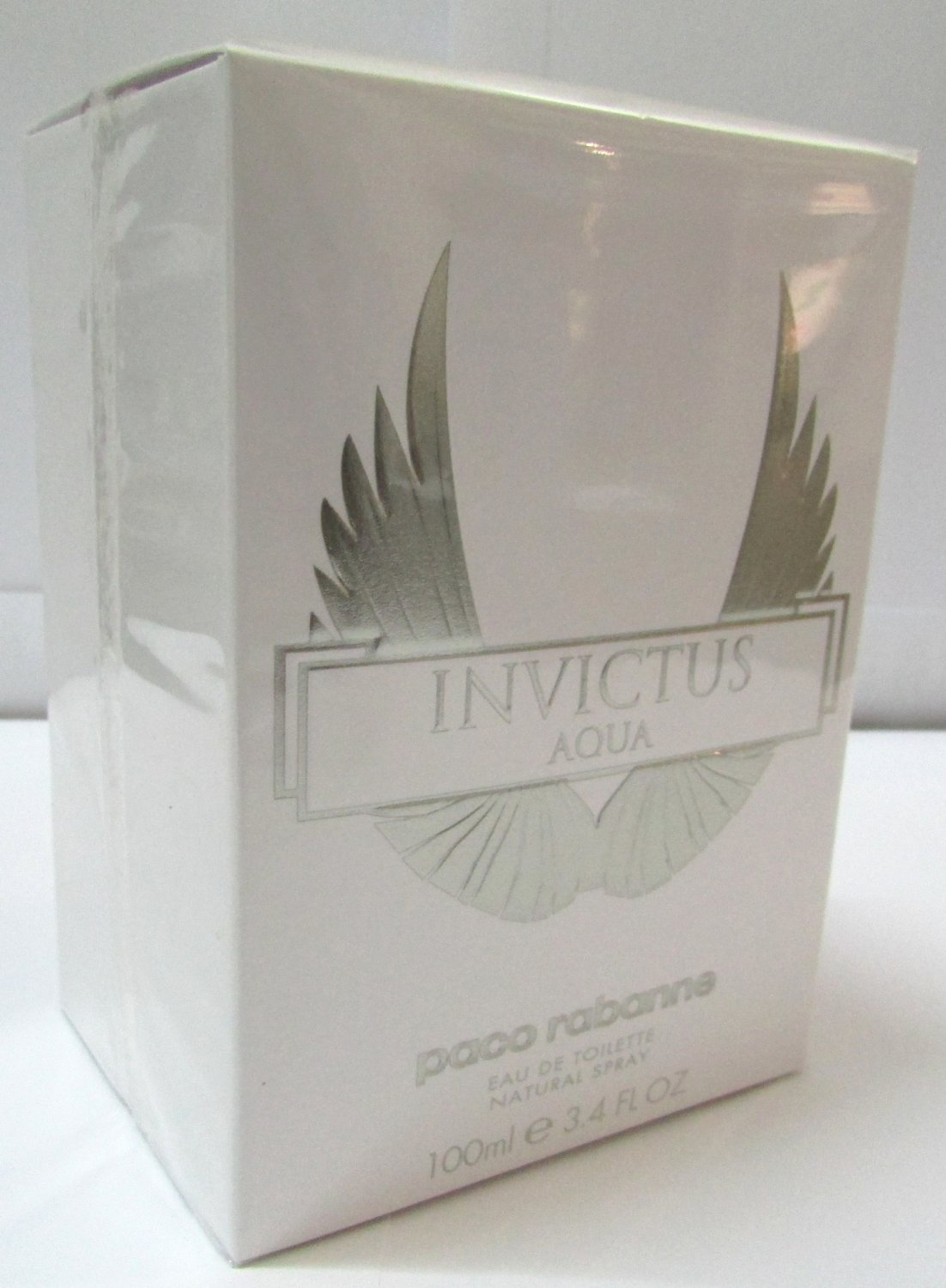 Paco Rabanne Invictus Aqua EDT Spray 100ml 3.4oz Men NEW SEALED & 100% Original