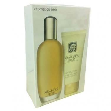 Clinique Aromatics Elixir EDP 3.4 oz 100ml + LOTION 75ml 2.5 oz GIFT SET NEW BOX