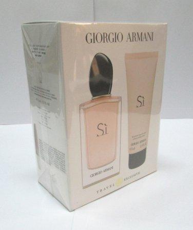 Armani SI EDP Eau de Parfum 3.4 oz 100ml + LOTION 75 ml 2.5 oz SET NEW Original
