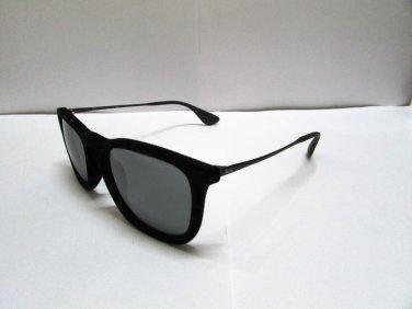 Ray Ban Sunglasses Chris RB 4187 6075/6G  60756G Flock Black Mirrored Original