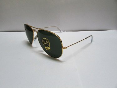 Ray-Ban Sunglasses Aviator RB 3026 L2846 Large Metal II Arista Gold NEW