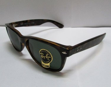 Ray Ban Sunglasses 2132 902L Tortoise Brown/ Green Lens Wayfarer 55mm 100% New
