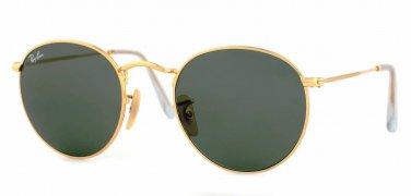 Ray Ban Sunglasses RB3447 001 Round  Arista Gold Metal, 50mm Classic G-15 Lens 100% New & Original