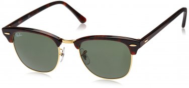 Ray Ban Sunglasses Clubmaster RB3016 W0366 Mock Tortoise / Arista 100% New Original