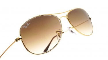 Ray-Ban Sunglasses Cockpit RB 3362 001/51 Brown Gradient/ Gold 100% New