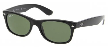 Ray Ban Sunglasses 2132 901 52/18 New Wayfarer Polarized Black / Green Lenses 100% Original