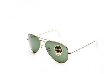Ray Ban Sunglasses 3025 L0205 58/14 Aviator Arista 100% Original New with Case