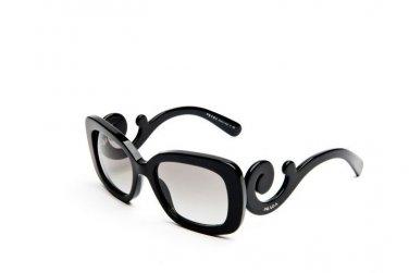 Prada Sunglasses PR 27OS 1AB3M1 54 Baroque Square Black 100% New & Original