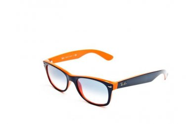 Ray Ban Sunglasses 2132 789/3F 52 Wayfarer Outsiders Blue/ Orange 100% Original