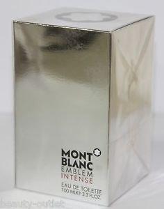 Mont Blanc EMBLEM INTENSE EDT 100ml 3.3oz Eau de Toilette NEW & Sealed Montblanc