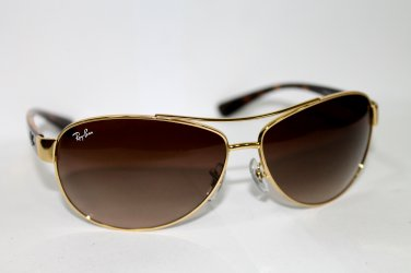 Ray-ban Men's Gradient Aviator Rb 3386 001/13 63mm Gold Aviator Sunglasses