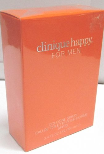 Clinique HAPPY For Men EDT Eau de Toillete Cologne Spray 100ml 3.4oz NEW SEALED BOX & 100% ORIGINAL