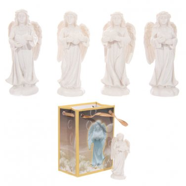 Miniature ANGEL With HEART Figurine Figure in a Bag White