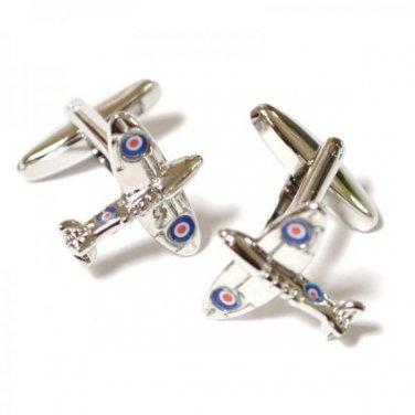 Gents Cufflinks Spitfire Aeroplane Plane Cufflinks