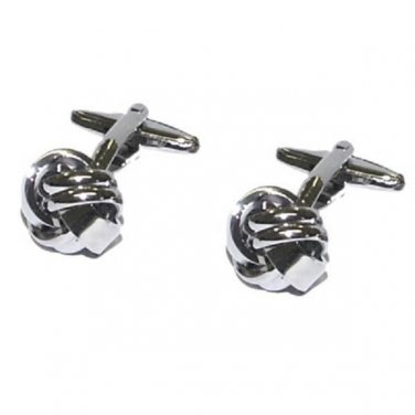 Ladies Cufflinks Knot Design Rhodium Plated Cufflinks