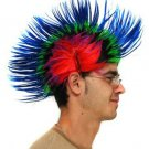 MULTI COLOURED PUNKY WIG Fancy Dress Party Hen Stag Do Punk Hair Costume