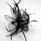 Feather Twist Loop Ruffle FASCINATOR Hair Accessory Com