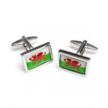 Gents Cufflinks Welsh Flag Wales Cufflinks