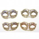 FANCY DRESS VENETIAN MASK Golden Filigree Glitter Eye Mask Costume Party Ball