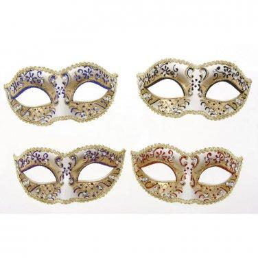 FANCY DRESS VENETIAN MASK Golden Filigree Glitter Eye Mask Costume Party Ball
