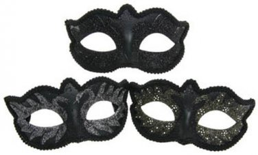 FANCY DRESS VENETIAN MASK Black Swan Eye Mask Masquerade Ball Costume Hen Party