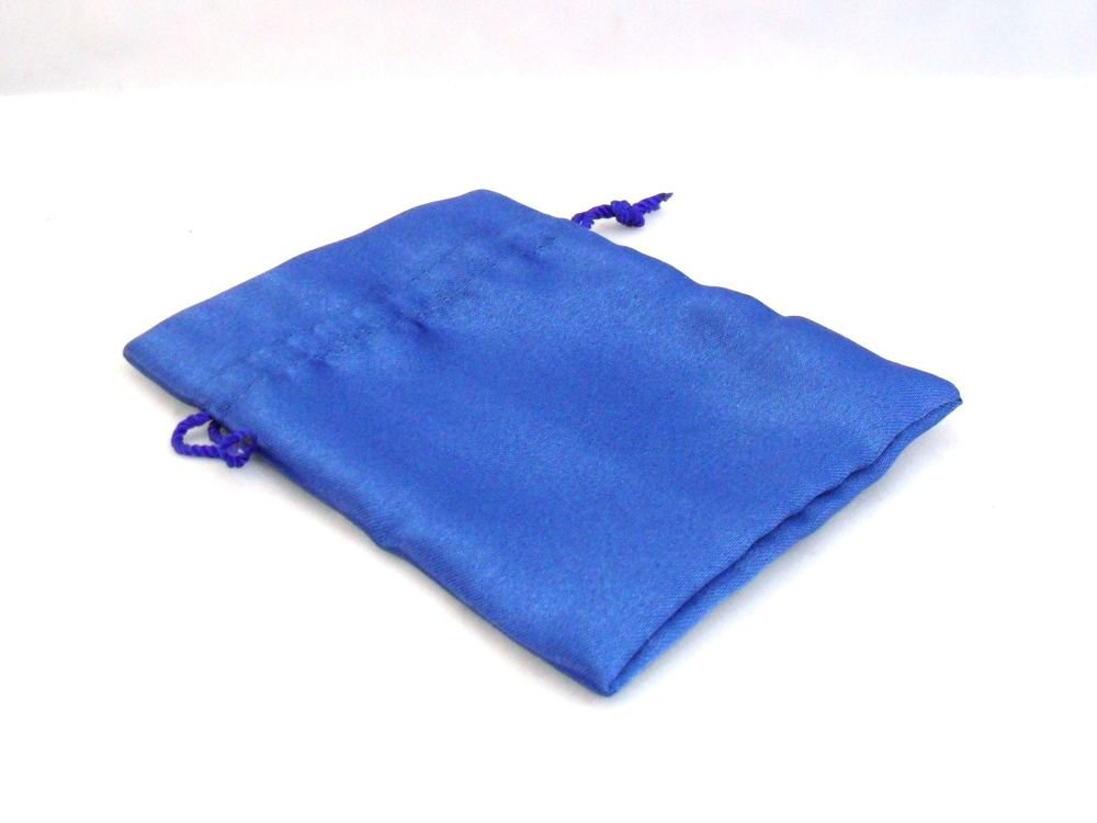 NEW BLUE Satin Fabric Pouch Crystal Jewellery Gift Bag BUY 2 GET 1 FREE