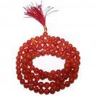 MALA BEADS Carnelian Gemstone Prayer Worry Rosary Beads
