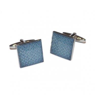 Gents Cufflinks Checker Plate Design Cufflinks