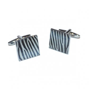 Gents Cufflinks Zebra Pattern Cufflinks