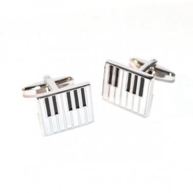 Gents Cufflinks Enamelled Piano Keys Cufflinks
