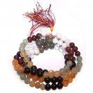 MALA BEADS Gemstone Prayer Worry Rosary Beads - 9 Planet Astro Design