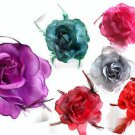 Fabric Rose Flower Hair Clip Corsage Fascinator Beak Clip Brooch Colour Choice