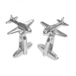 Gents Cufflinks Aeroplane Airplane Plane Design Cufflinks