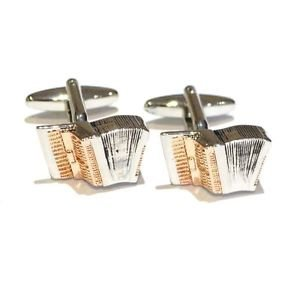 Piano Accordian 2 Tone Colour Cufflinks - Music Instrument Cufflinks