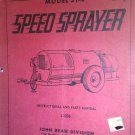 GENUINE JOHN BEAN MODEL 31-E SPEED SPRAYER INSTRUCTION / PARTS MANUAL L-1236