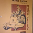 GENUINE WOODS MODEL RM59-3 OPERATOR'S MANUAL F-7396