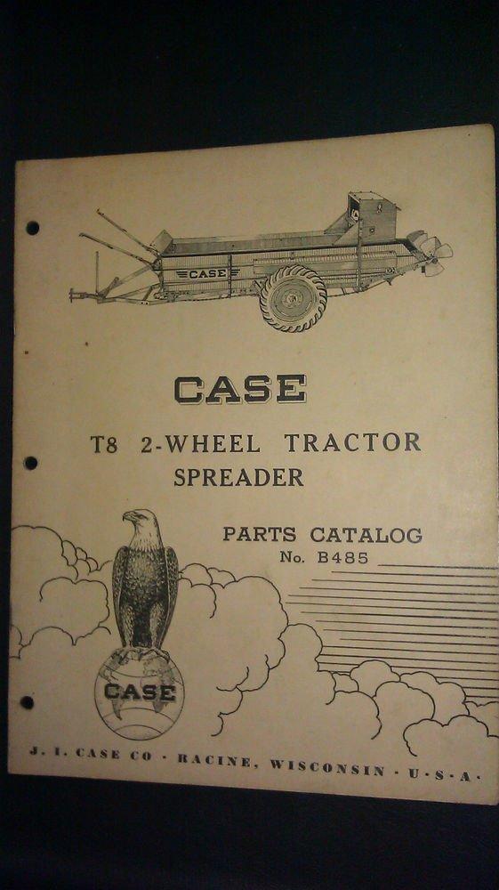 Vintage Case Tractor Parts : Vintage case t wheel tractor spreader parts catalog no b