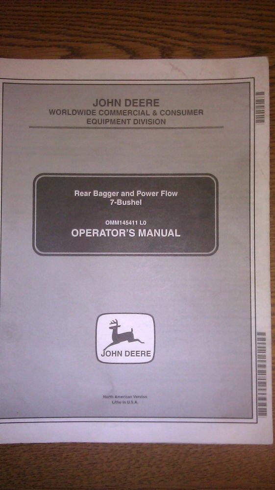 John Deere Power Flow Bagger Parts Manual Guide