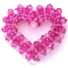 Fuschia Crystal Heart