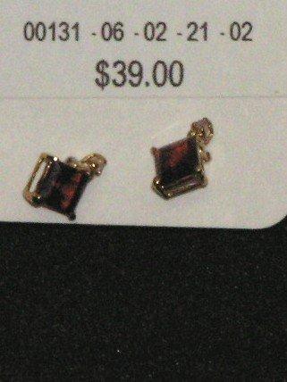 Garnet and diamond earrings