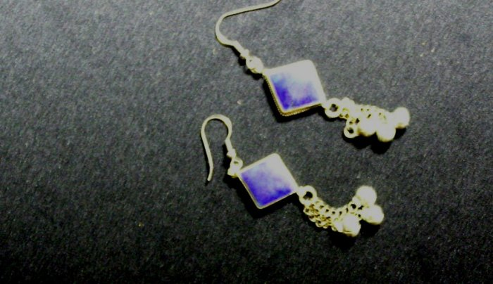 Tribal Lapis Lazuli Inlay Earrings