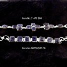 Item No.00038  Sapphire(Blue) Bracelet in Sterling Setting