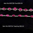 Item No.00072 Tribal Natural Ruby Bracelet in Sterling Setting