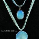 Item No.00502  Moonstone Necklace in Artisan Metal Setting