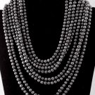Item No.00405 Pearl Necklace in Artisan Metal Setting