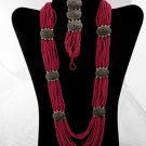 Item No.00321  Tribal Coral Set in Non-Metal Setting