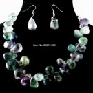 Item No. 01215 Fluorite Set, Set in Non-Metal Setting