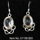Item No. 01158 Quartz Earrings in Sterling Setting