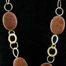 Item No.01583 Jasper Necklace in Artisan Metal Setting
